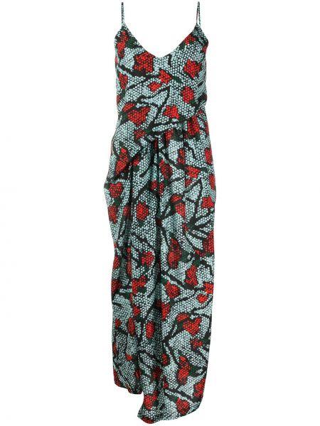 Sukienka z jedwabiu z dekoltem w serek Christian Wijnants