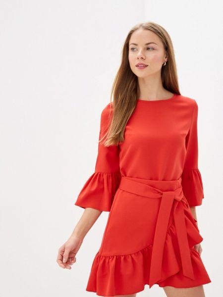 Однобортное красное платье With&out