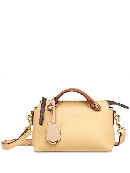 Skórzana torebka mini na ramię Fendi