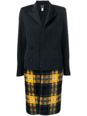 Черное пальто на пуговицах с лацканами винтажное Jean Paul Gaultier Pre-owned