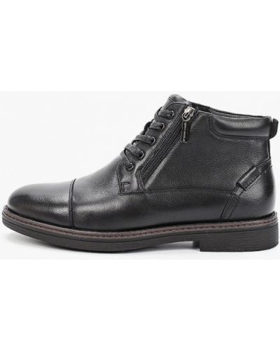 Черные кожаные ботинки Pierre Cardin