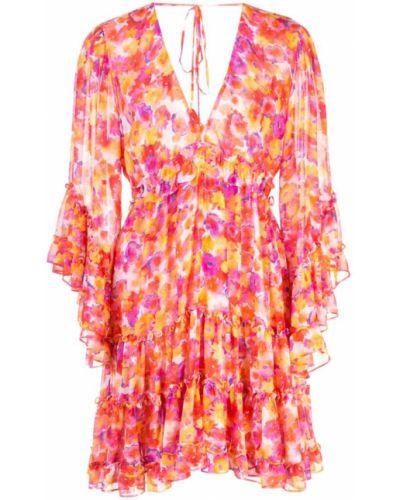 Платье с цветочным принтом с V-образным вырезом Misa Los Angeles