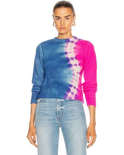 Облегченный синий кашемировый свитер The Elder Statesman