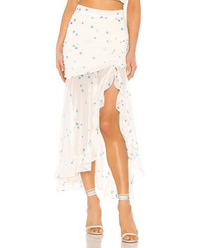 Асимметричная синяя юбка с оборками Flynn Skye