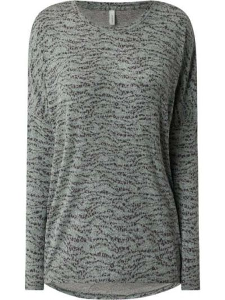 Bluzka z długimi rękawami z wiskozy turkusowa Soyaconcept