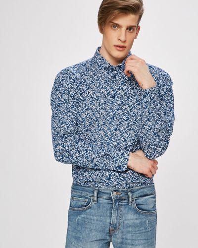 Рубашка тонкая синий Casual Friday