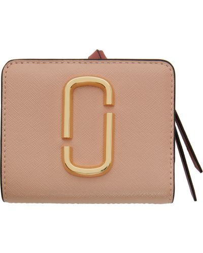 Кожаный кошелек - бежевый Marc Jacobs