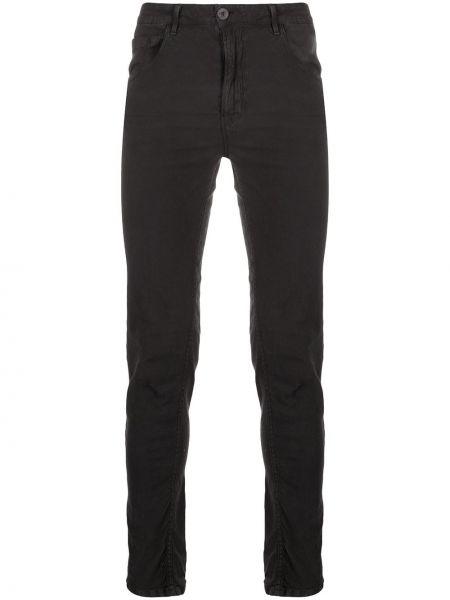 Зауженные черные джинсы-скинни из микрофибры с карманами Poème Bohémien