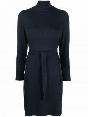 Платье макси с длинными рукавами - синее A.p.c.