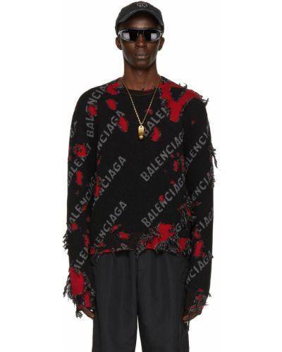 Черный свитер длинный Balenciaga