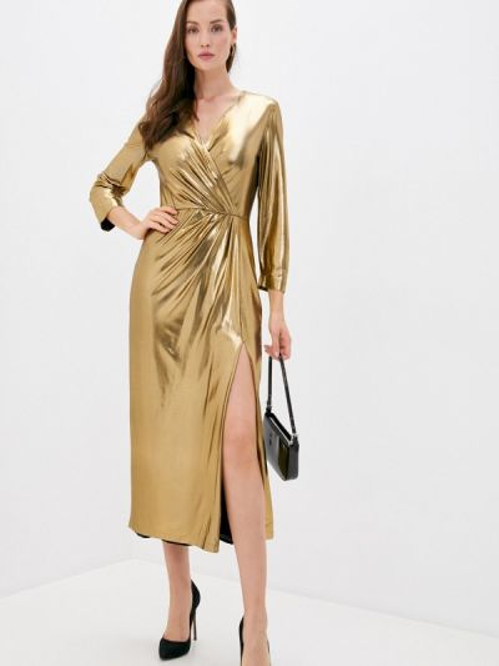 Вечернее вечернее платье золотое Laroom