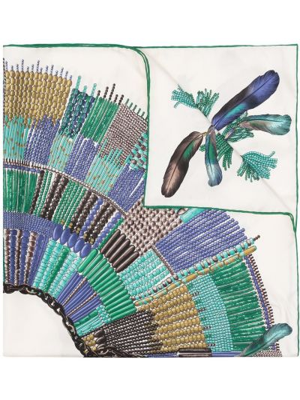 Шелковый платок - зеленый Longchamp