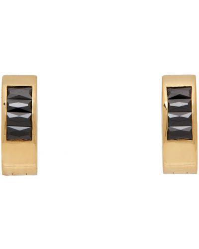 Kolczyki sztyfty srebrne - czarne Hatton Labs