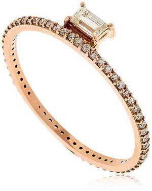 Złoty pierścionek z diamentem Sarah Noor