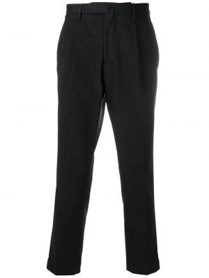 Bawełna bawełna czarny chinosy z kieszeniami Dell'oglio