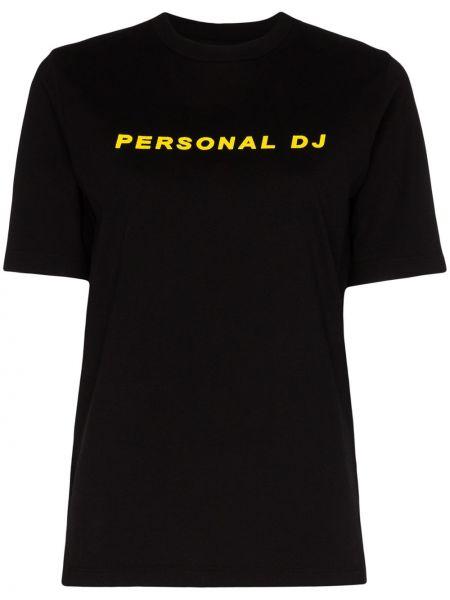 Czarny t-shirt bawełniany Kirin
