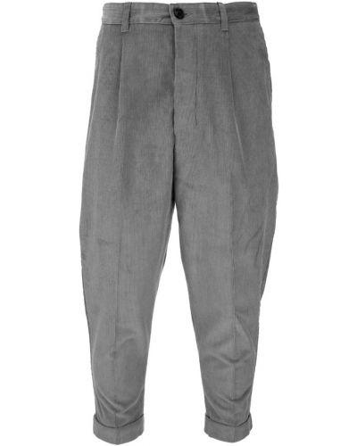 Szare spodnie sztruksowe Ami Paris