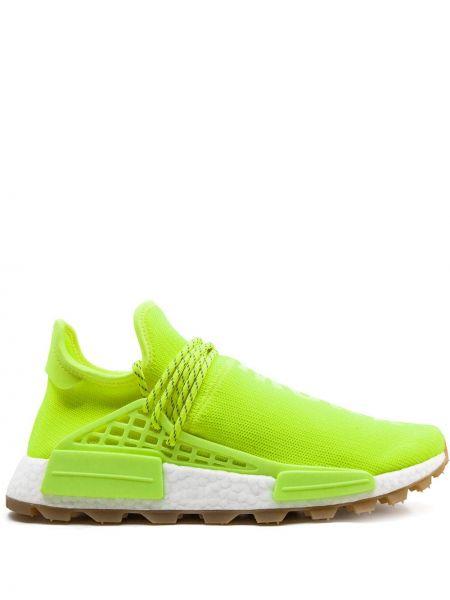 Żółte sneakersy sznurowane z nylonu Adidas By Pharrell Williams