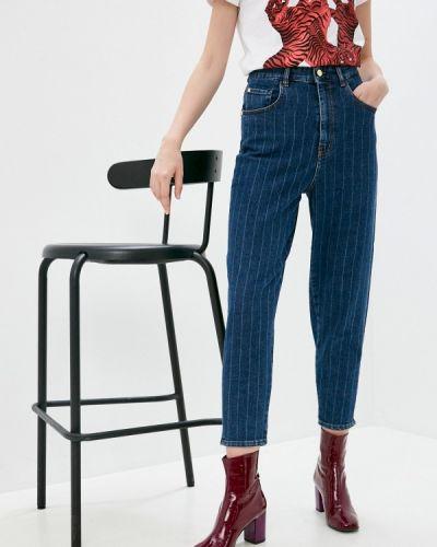 Синие широкие джинсы свободного кроя Just Cavalli