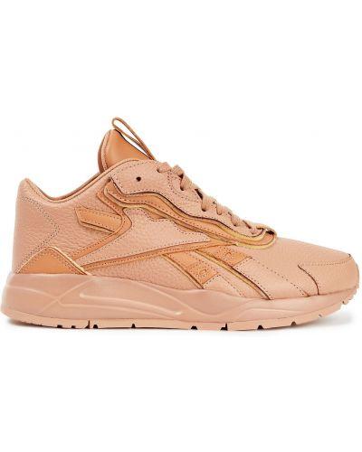 Кожаные кроссовки - оранжевые Reebok X Victoria Beckham