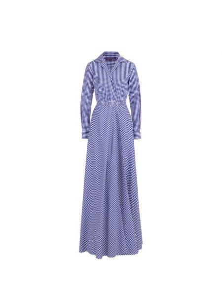 Платье макси на пуговицах с поясом Ralph Lauren