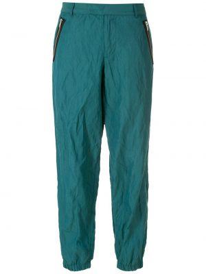 Спортивные брюки с завышенной талией - синие Uma   Raquel Davidowicz