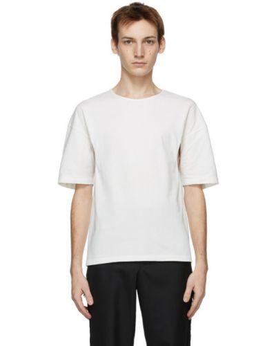 Biały t-shirt bawełniany krótki rękaw Vejas