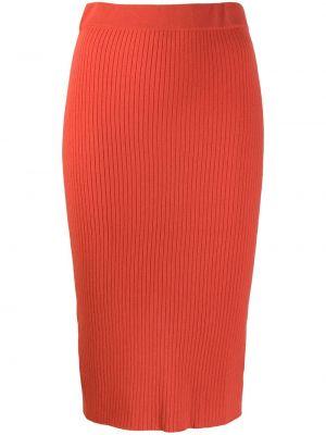 Приталенная кашемировая юбка карандаш в рубчик с рукавом 3/4 Cashmere In Love