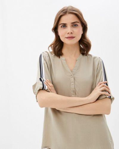 Бежевая блузка с длинными рукавами Luhta