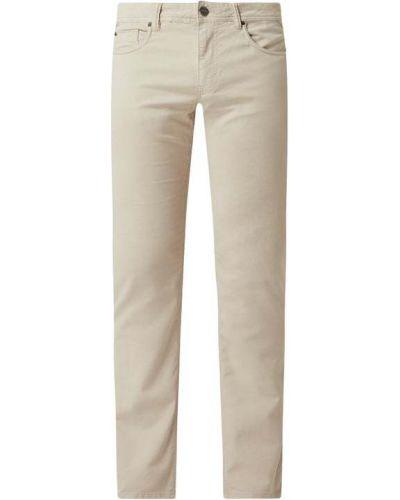 Białe spodnie bawełniane Montego