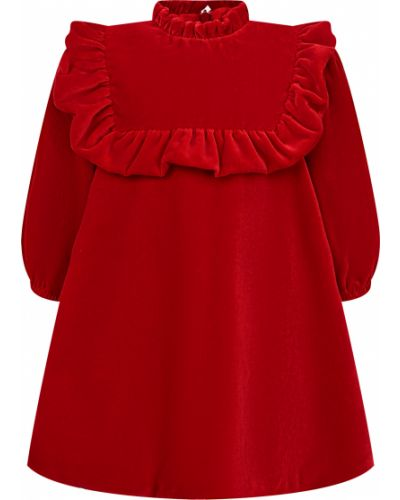 Платье из вискозы - красное Il Gufo