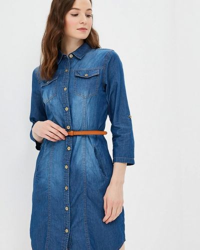 Джинсовое платье осеннее синее Modis