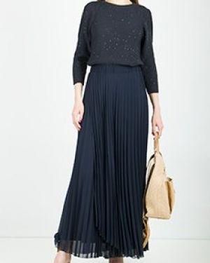 Синее повседневное платье Peserico
