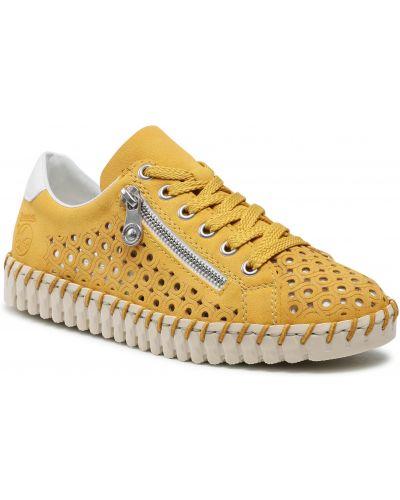 Żółte półbuty Rieker