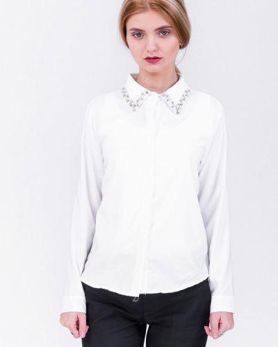 Белая блузка осенняя Olko