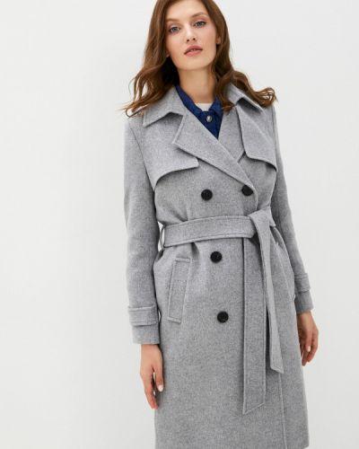 Серое пальто двубортное Trendyangel