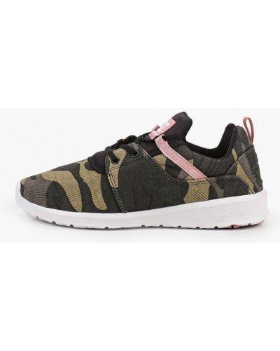 Текстильные кроссовки хаки Dc Shoes
