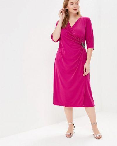 Платье миди розовое осеннее Svesta