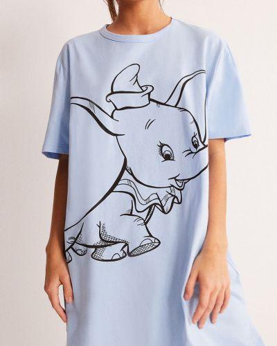 Niebieska piżama bawełniana krótki rękaw Undiz