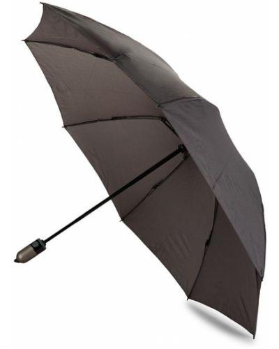 Czarny automatyczny parasol srebrny Shedrain
