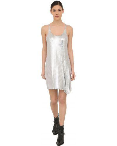 Платье с декольте на бретелях Paco Rabanne