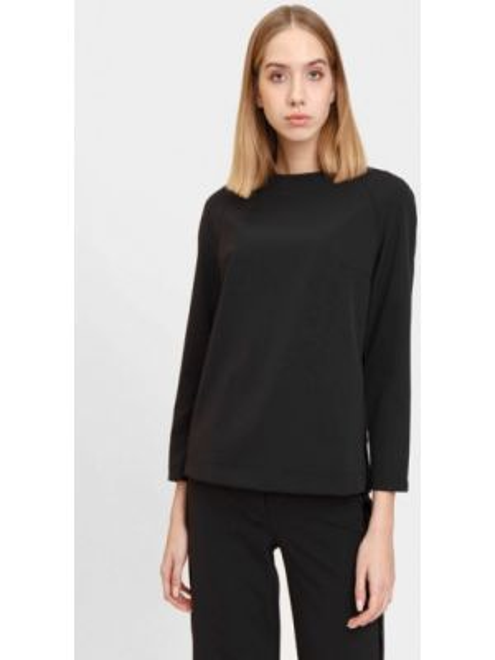 Черная блузка с длинным рукавом Bizzarro
