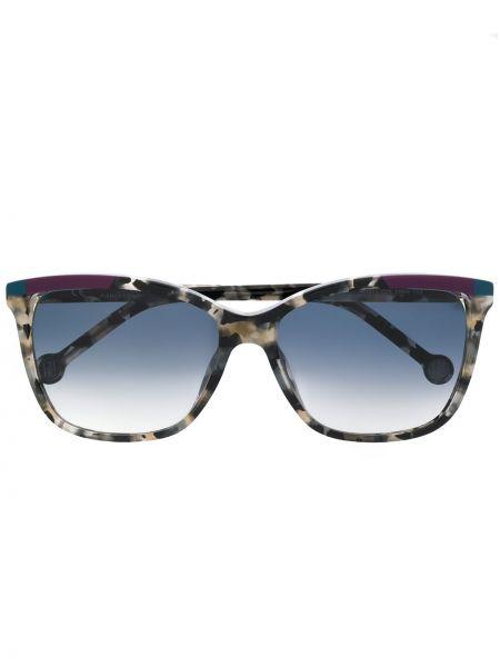 Прямые муслиновые солнцезащитные очки хаки Ch Carolina Herrera