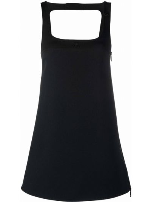 Czarna sukienka mini Courreges