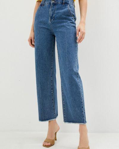 Синие расклешенные джинсы свободного кроя Sela