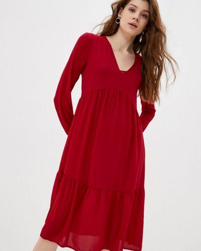 Прямое красное платье Please