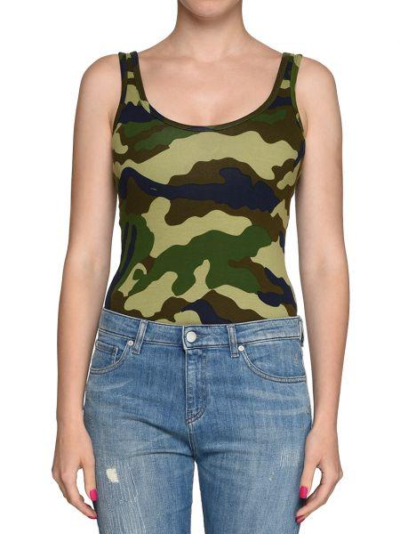 Хлопковая блузка - зеленая Kendall + Kylie
