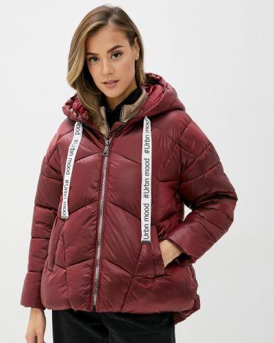 Утепленная красная куртка B.style