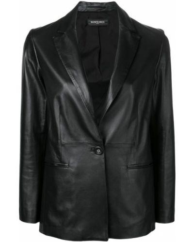 Черный классический пиджак с карманами на пуговицах Simonetta Ravizza