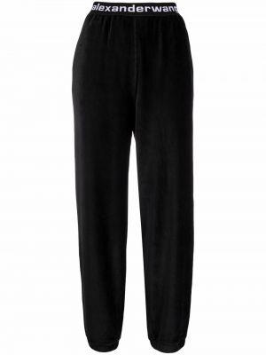 Черные хлопковые спортивные брюки Alexanderwang.t